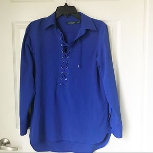 Ralph Lauren women's blue blouse